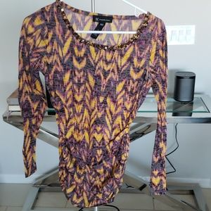 Long Sleeve Blouse with Sequins